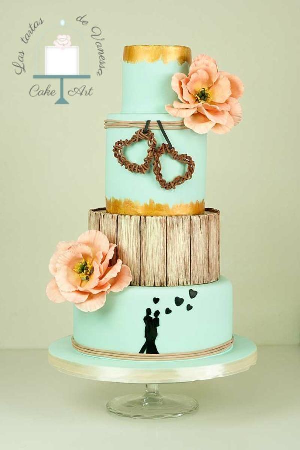 Peonies wedding cake by Vanessa Rodríguez