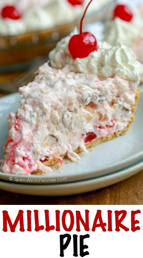 Millionaire Pie is a family favorite. A rich creamy base is loaded ...