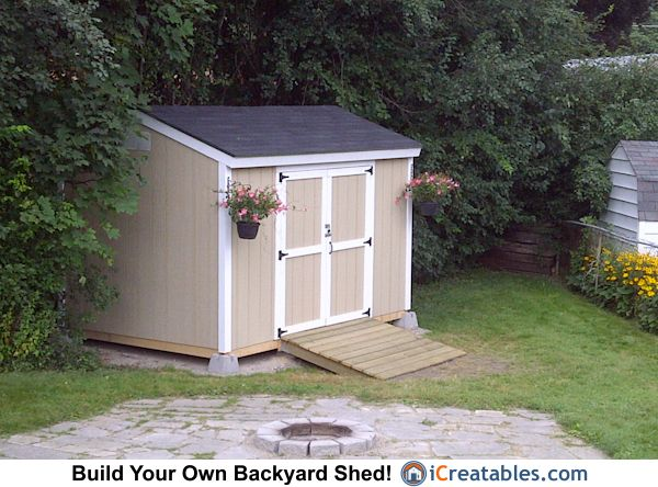 Garden Sheds Ontario 8x12 backyard shed. built in ontario canada. plansicreatables