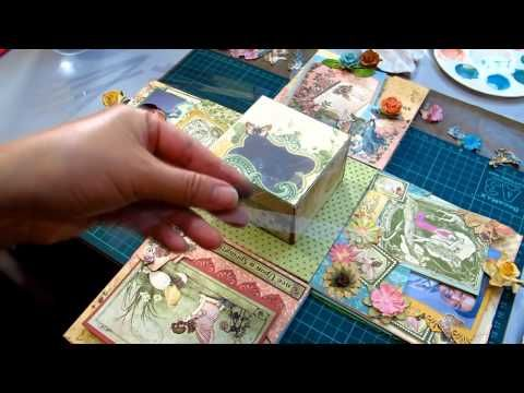 Magical Enchanted Explosion Box featuring enchanting fairies and flowers.  Great for a little girl