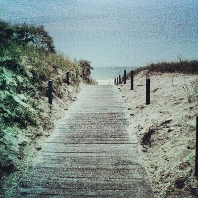 pathway to the beach at the Baltic Sea