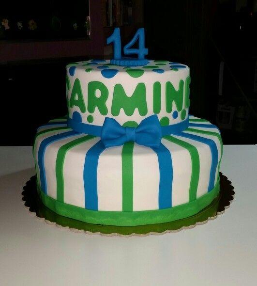 Torta a strisce e pois cake