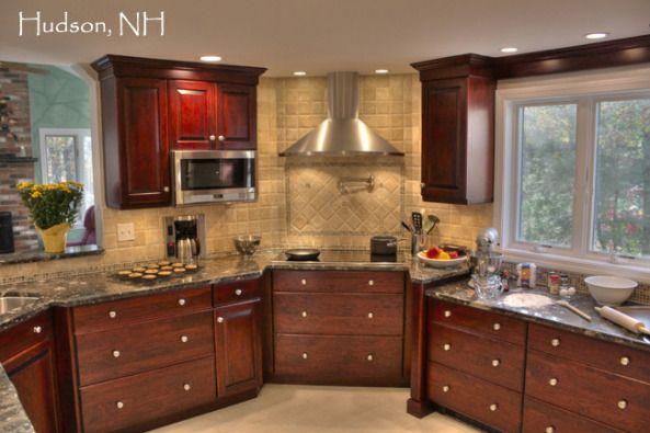 Transitional Kitchen Corner Sink Corner Stove Stainless