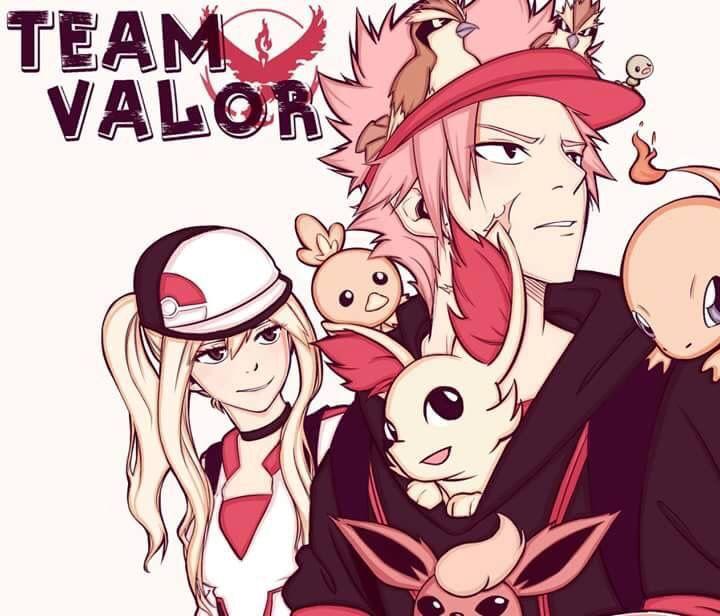 NaLu as Pokemon Go! Trainers