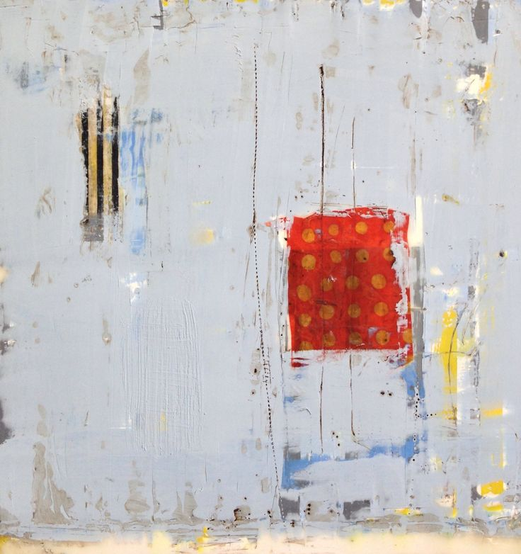 Amy Weil Encaustic, collage and oil stick on wood