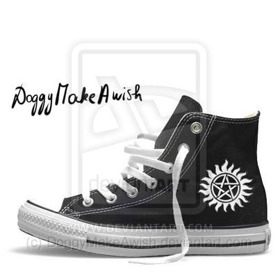supernatural shoes by doggiemakeawish