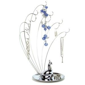 Valentine Gadget Gifts For Woman: Umbra Peacock Metal Jewelry Stand Beautiful design, perfect for necklaces. It is chrome-plated metal wire, with cast-metal base.  http://awsomegadgetsandtoysforgirlsandboys.com/valentine-gadget-gifts-woman/ Umbra Peacock Metal Jewelry Stand