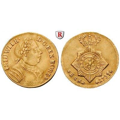 Brandenburg-Preussen, Königreich Preussen, Friedrich Wilhelm I., Dukat 1737, ss+: Friedrich Wilhelm I. 1713-1740. Dukat 1737 Berlin… #coins
