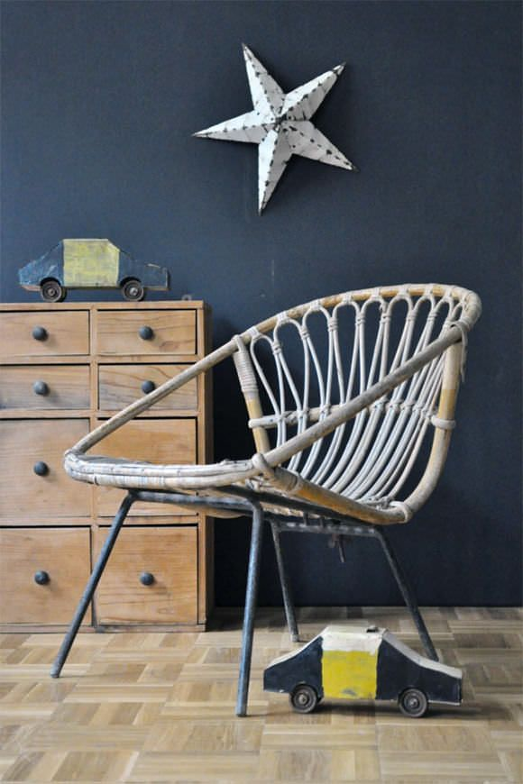 French Vintage for Kids' Rooms: Wicker Children's Chair
