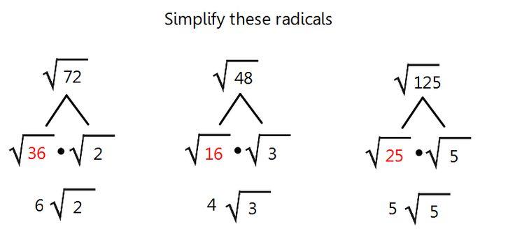 Geometry homework help radicals
