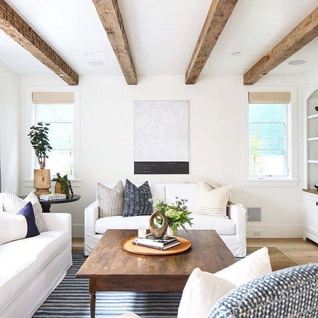 White Living Spaces: Best 25+ Wood Beams Ideas On Pinterest