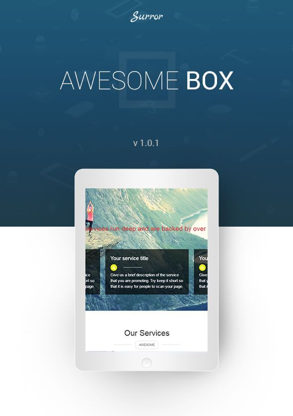 awesome box front page