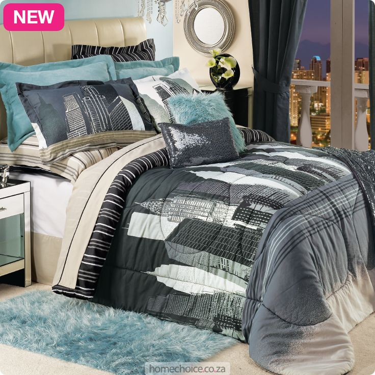 City duvet and comforter set from R199 cash or R19 p/m. Shop http://www.homechoice.co.za/Bedding/Bedding-Sets/City-Bedding.aspx