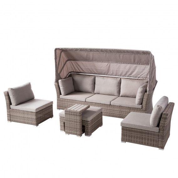 Loungeset Le Vaux 5 Teilig Kaufen Home24 Lounge Mobel Outdoor Lounge Mobel Polyrattan Lounge Set