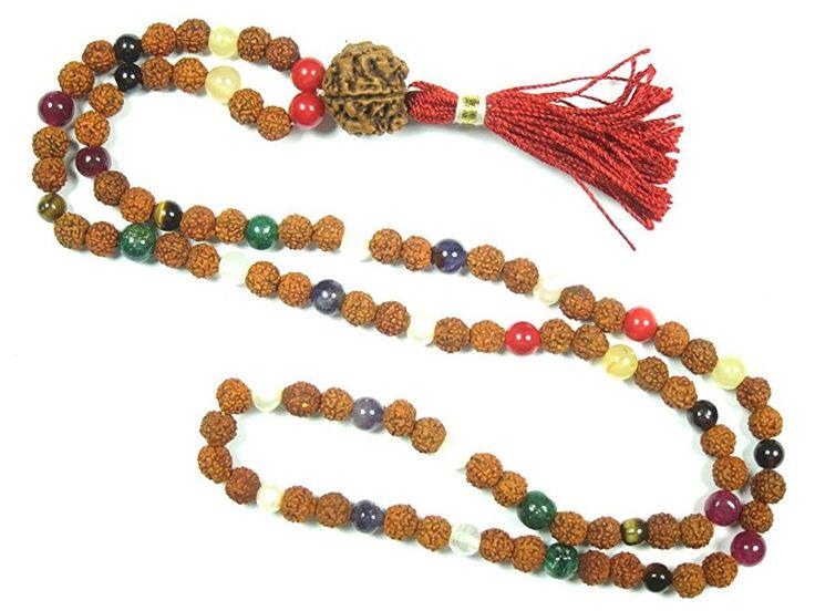 Meditation Yoga Healing mala Beads Navaratan Rudraksha Prayer Rosary Necklace  #yogamala #spiritualmala #sale #meditationmala
