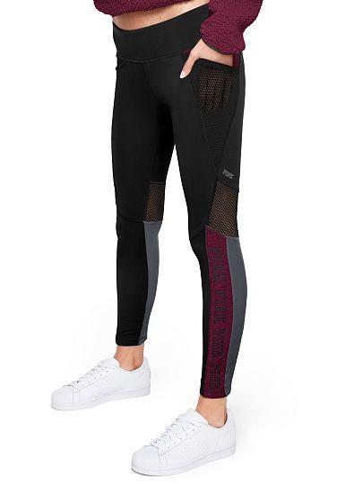 bbeb78452d72a NEW COZY! Ultimate Fleece Lined Mesh Pocket Legging - PINK - Victoria's  Secret