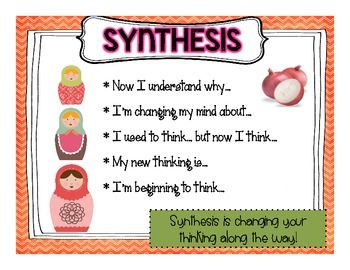reading strategy synthesising Wwwthecurriculumcornercom name: _____ synthesizing is when your thinking changes as you read title: _____.
