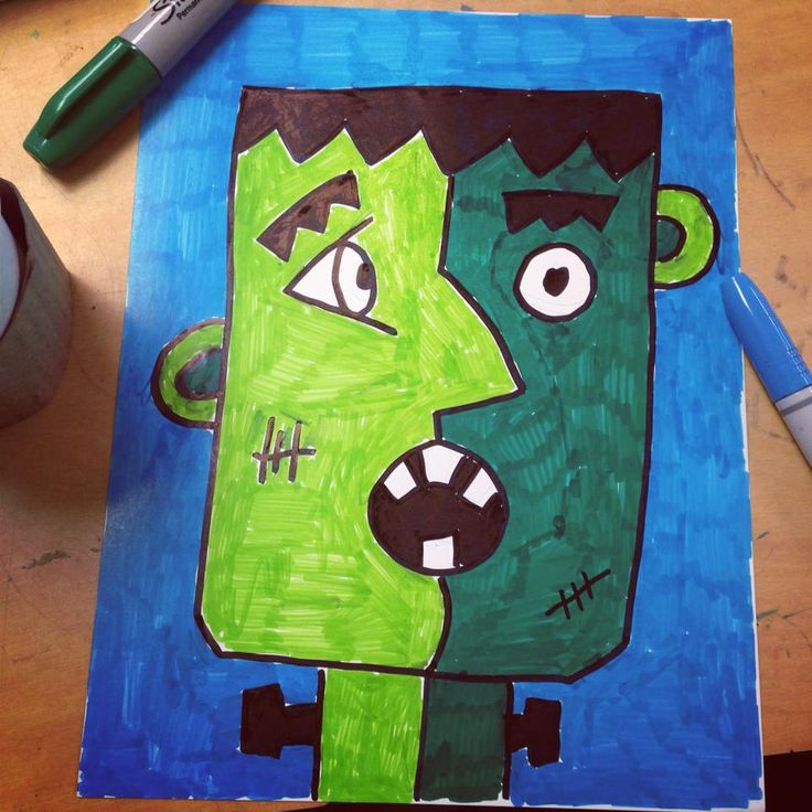 Art Projects For Kids Frankenstein Meets Picasso Thanks