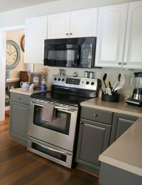 How two tone cabinets can update your kitchen creative for Update white kitchen cabinets