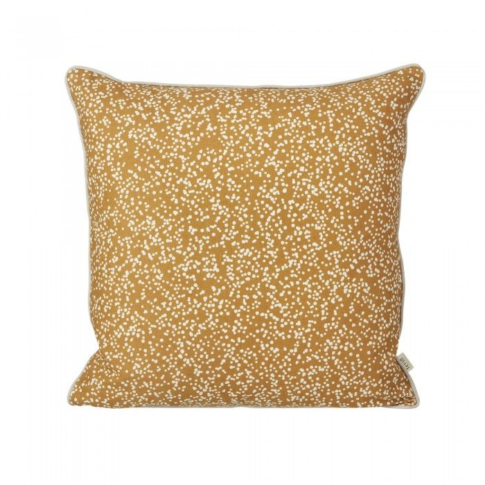DOTTERY cushion by Ferm Living made of 100% organic cotton canvas and printed by hand. COLONEL SHOP, decoration and contemporary furniture in Paris.