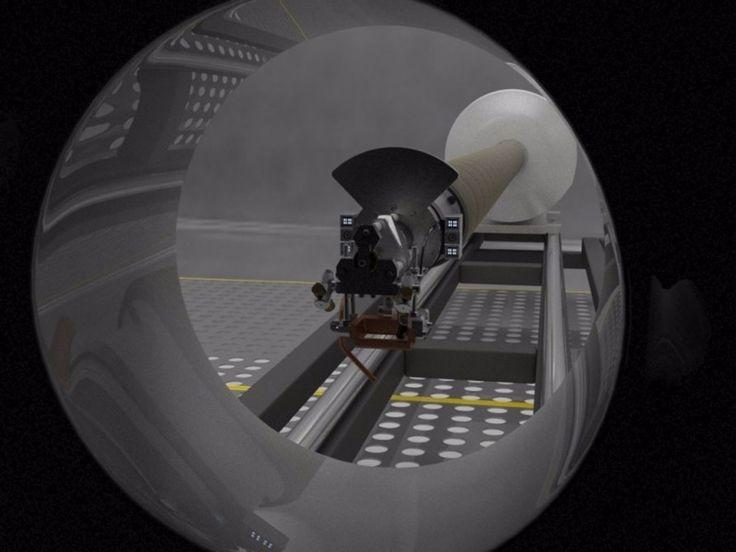 LaserPipe snake robot makes an inside job of pipe welding 12/16/15 LaserPipe approaching work area