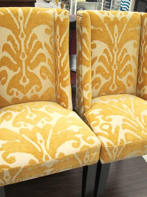 The Yellow Cynthia Rowley Chairs I Eventually Bought From Marshalls.