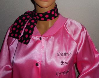 custom monogramming embroidered names for pink ladies or T bird jacket purchases-one or two lines up to 9 letters each.
