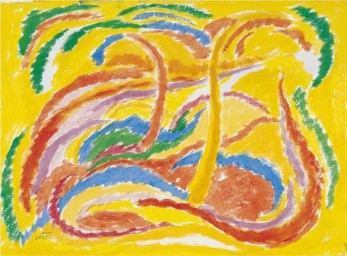 Landscape - Janos Mattis-Teutsch ROMANIA 1884-1960.