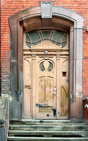 Too bad someone graffitied this door: Art Nouveau, Grand Entrance, Doors Doors, Front Doors, Beautiful Doors, Knock Knock, Old Doors, Home And Outdoor, Awesome Stuff