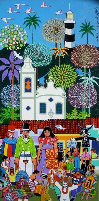Carnaval De Olinda Painting