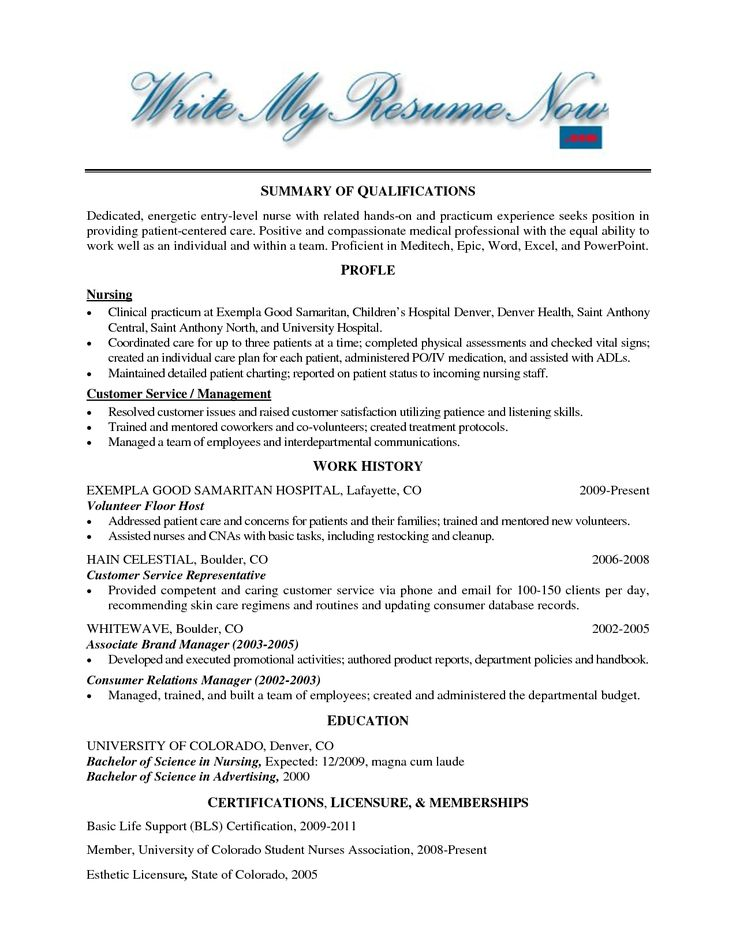 Resume Template For Volunteer Work