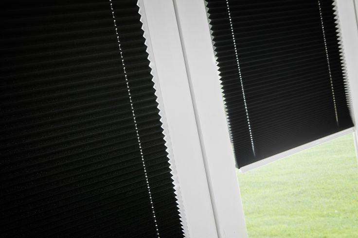 Intu Micro pleated blinds close up.