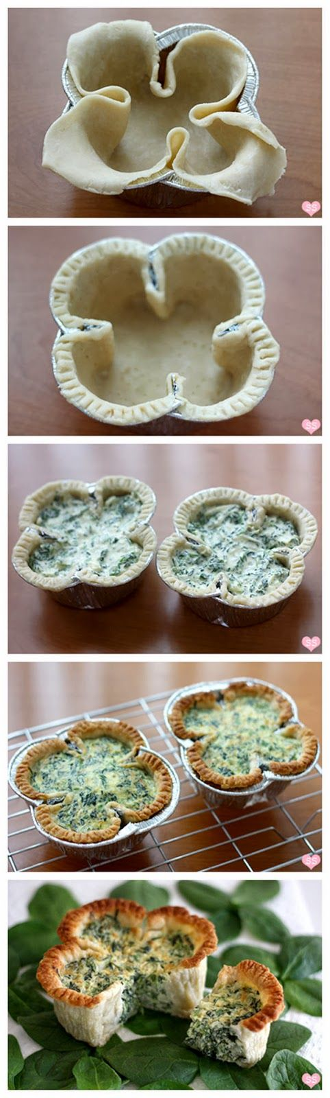 Lucky Spinach Quiche - St. Patrick's Day breakfast, brunch, or dinner!