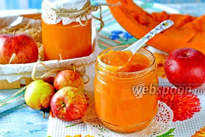Фото Пюре из тыквы и яблок на зиму для детей