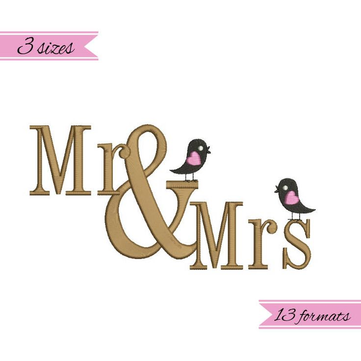 Mr. and Mrs. birds embroidery machine designs,wedding pattern,heart,merried by WeddingdesignStore on Etsy
