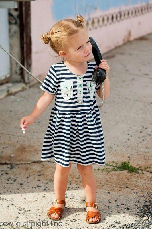 kensington dress- sew a straight line
