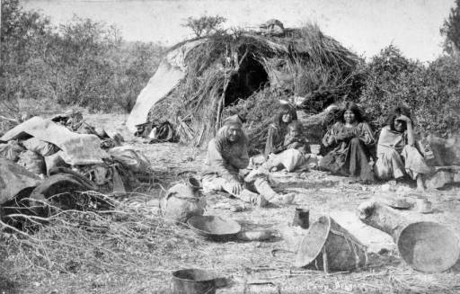 Apache Indian camp, Arizona :: 1883