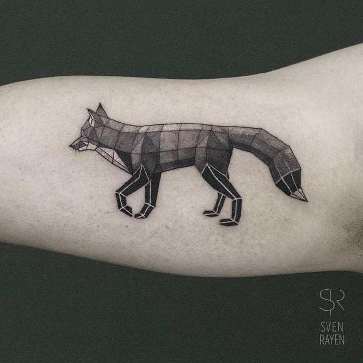 Les 25 meilleures id es de la cat gorie tatouage de cerf sur pinterest dessin de cerf - Tatouage animaux geometrique ...