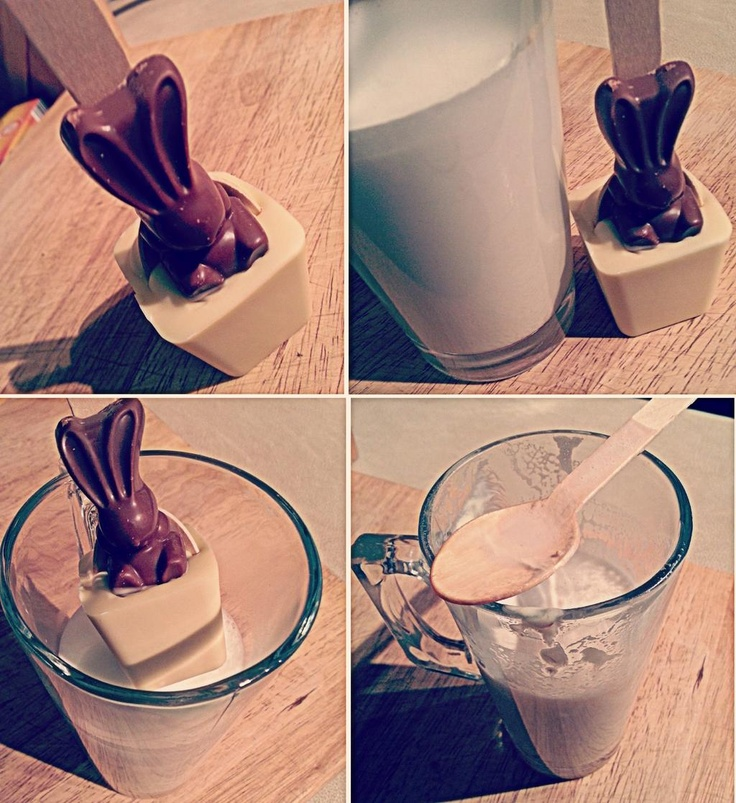 Easter hot chocolate spoon.