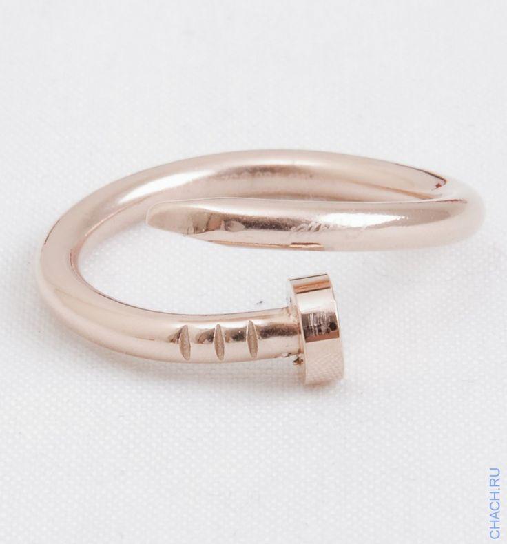 Кольцо Cartier Juste Un Clou в виде изогнутого гвоздя цвета розового золота