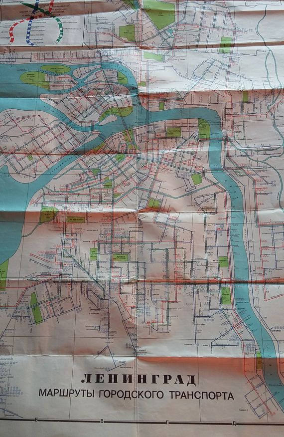 Solingen Map%0A Vintage map  LENINGRAD City transport routes
