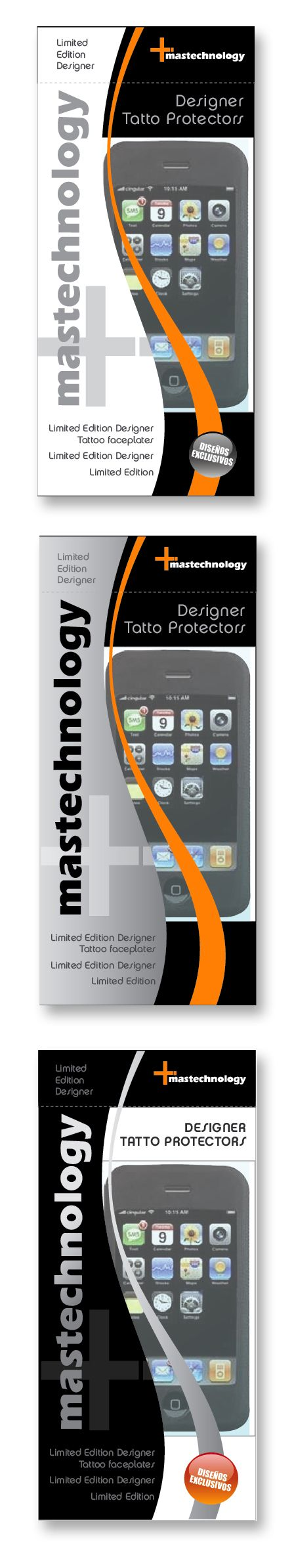 Diseño de cajas accesorios celulares Mastechology