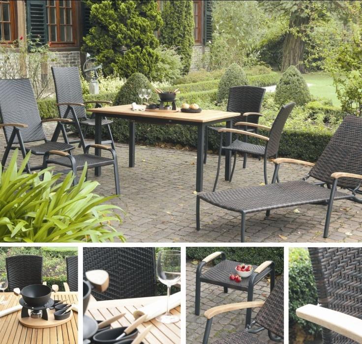 Amazing Siena Garden CALMAR II Geflecht Relaxsessel Gartensessel bi color braun
