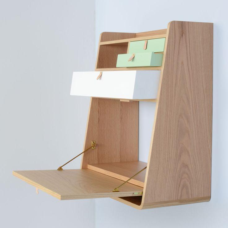 Small spaces smart living ambrose gaston wall bureau shelving units shelving storage - Small space shelves concept ...