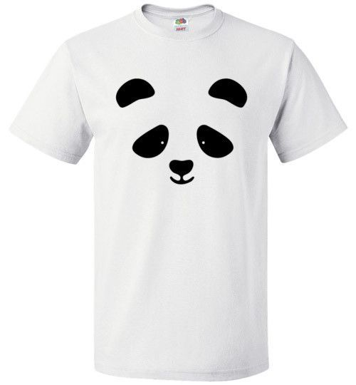 PANDA SHIRT Get your panda on (literally) If nothing brightens your day like a panda, you need this panda shirt! Available in white or ash, it'll let you carry the joy of a panda with you wherever you