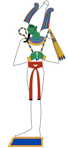 Osiris, lord of the dead. His green skin symbolizes re-birth | Wikipedia