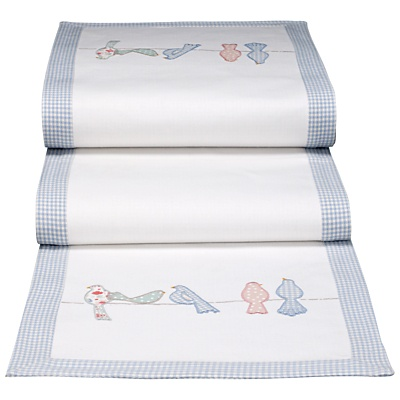 For a cosy cottage look, why not choose this lovely table runner? Made from woven cotton, this table runner features a cute graphic from the 'Polly's pantry' collection; illustrating some pretty birds sitting serenely on a line. £25 from John Lewis.