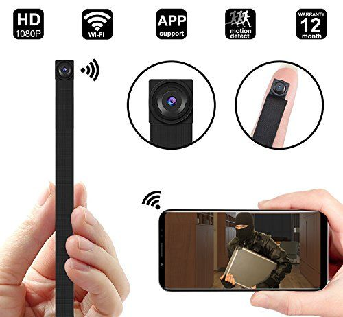 1080P WIFI Spy Hidden Camera module, DigiHero Mini WiFi module Camera/Security Camera with WiFi Remote View/Motion Detection for Home/Office.Support iOS/Android/PC - SUPER SLIM SECURIY NANNY CAMERA: DigiHero DIY mini Wi-Fi camera is the world's smallest camera, ONLY 13 gramme (w/o battery) and 60gramme with battery, 0.25Inch thickness body let you could put the mini camera in pocket or on back of wall clock /bookshelf/TV/photo frame and anywhere. WIFI CONNECT...