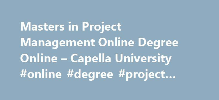 Best 25 online it degree ideas on pinterest for Master project management online