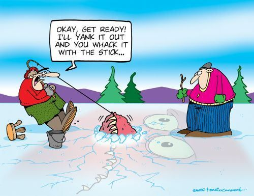 Fishing cartoons by tundra comics drowning worms the for Dirty fishing jokes